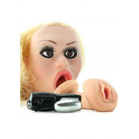 """Realistica Bambola Gonfiabile Vibrante """"Carmen Luvana"""" con Vagina in Silicone Cyberskin!"""