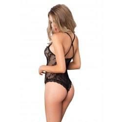 Intimo Donna Body in Pizzo Nero, Taglia Unica - Sexy Lingerie Leg Avenue