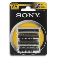 4 Batterie Sony AA Stilo