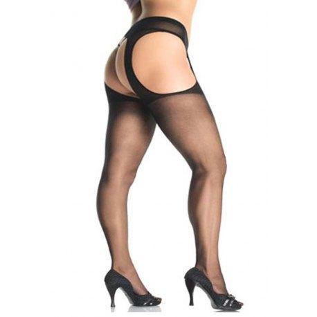 PLUS SIZE Sexy Collant Velato Aperto - Leg Avenue Lingerie