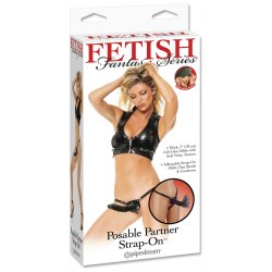 Strap On Fallo Indossabile per Donna Pipedream Posable Partner Strap-On