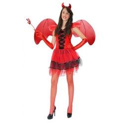 Costume Donna Diavoletta Sexy Vestito Halloween Carnevale - Pegasus