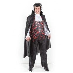 L Costume Uomo Conte Dracula Vestito Halloween Carnevale - Pegasus