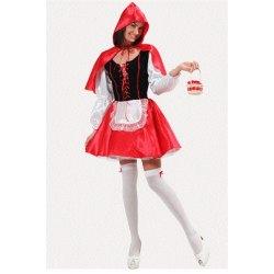 Costume Donna Cappuccetto Rosso Sexy Vestito Halloween Carnevale - Pegasus