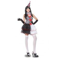 M Costume Donna Pierrottina Sexy Vestito Carnevale - Pegasus