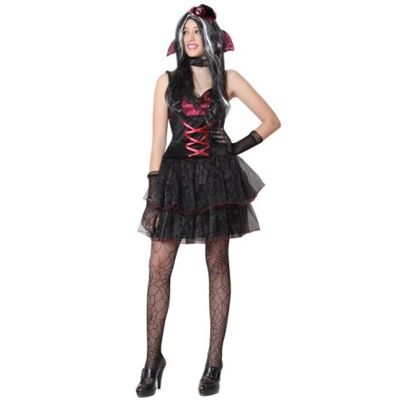 Costume Donna Vampira Sexy Vestito Halloween Carnevale - Vampiria Pegasus