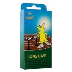 Preservativi Ritardanti Profilattici Amor Long Love Condom 12 pezzi