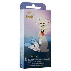 Preservativi Super Sottili Profilattici Effetto Nudo Amor Thin Condom 12 pezzi