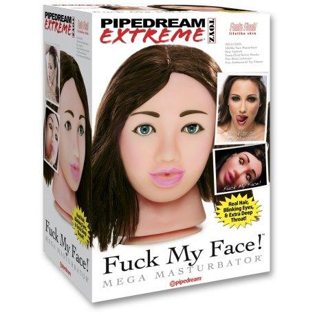 Pipedream Extreme Fuck My Face Brunette RD179-02 Mega Masturbatore Pompino