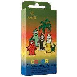Preservativi alla Frutta Profilattici Amor Color Condom 12 pezzi