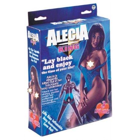Bambola Gonfiabile di colore Alecia King nera