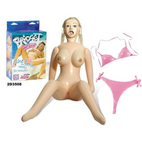 Bambola Gonfiabile Bridget Big Boobs Love Doll Tette Grandi, Viso 3D Realistico