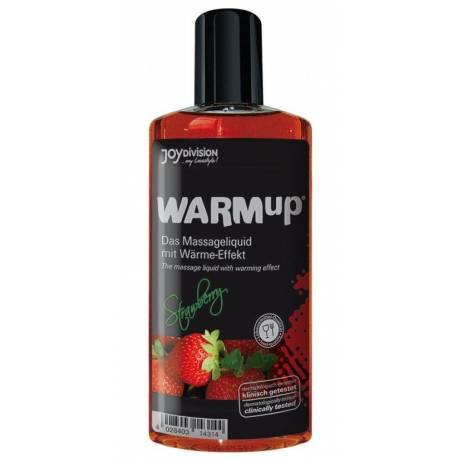 Olio da Massaggio Commestibile alla Fragola WARMup Effetto Calore 150 ml