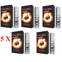 5 X Tauro Extra Power Spray Ritardante per Uomo Eiaculazione Precoce 5 ml