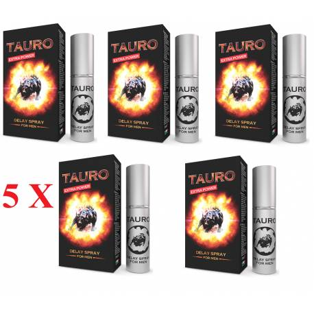 Tauro Extra Power Spray Ritardante per Uomo Eiaculazione Precoce 5 ml