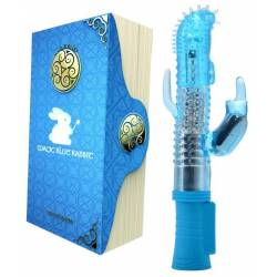 Vibratore Rabbit Blu con Coniglio Vibrante Srimola Clitoride Magic Blue Rabbit