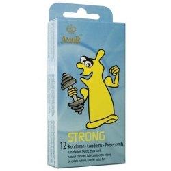 Preservativi Rinforzati Profilattici Anali Amor Strong Condom 12 pezzi
