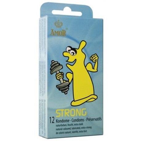 Preservativi Rinforzati Profilattici Anali Amor Strong Condom 3 o 12 pezzi