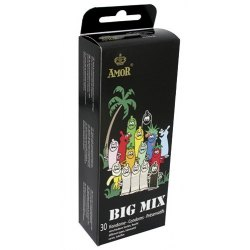 Preservativi Amor Big Mix Condom 30 Profilattici Assortiti